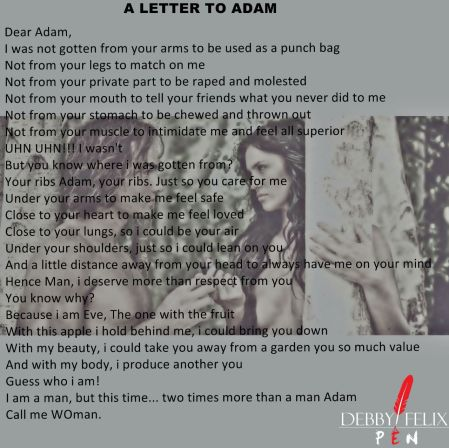 A Letter to Adam